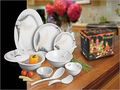 Melamine Round Dinner Set
