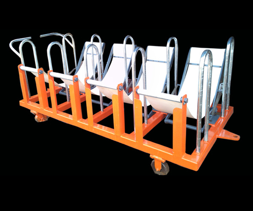 Redial Machine Green Tyre Trolley