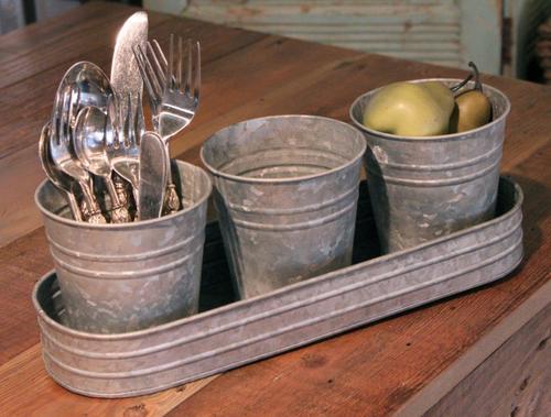 Antique Galvanized Bucket Set in  New Area