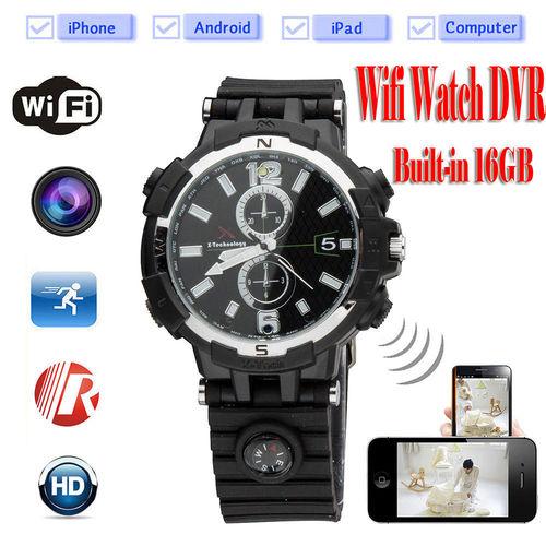 HD Night Vision Spy Wi Fi Watch Cameras