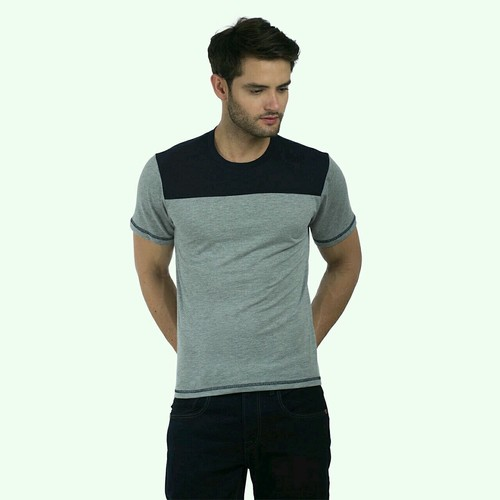 Grey Colour Half Sleeve T Shirts in  10a-Sector