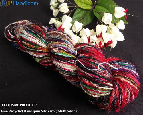 Multicolor Recycled Row Silk Yarn