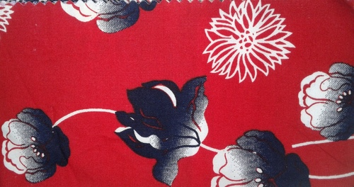 Flower Print Pure Cotton Fabrics in  Kalbadevi