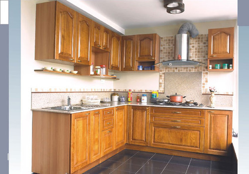 Wooden modular kitchen in vapi gujarat the edge for Wooden modular kitchen designs