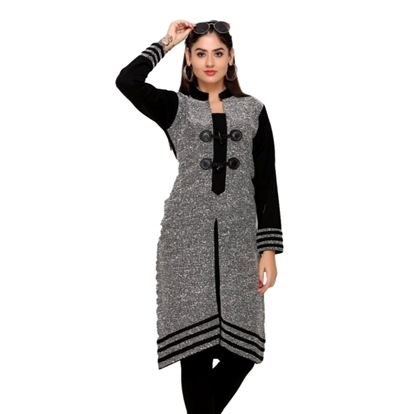Woolen Full Sleeves Black Kurti in  Mochpura Bazar