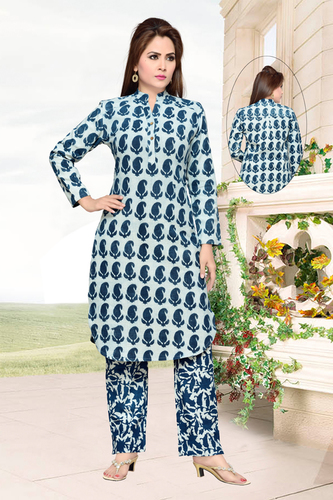 Printed Cotton Kurta Pajama