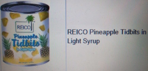 Top Range Reico Pineapple Tidbits In Light Syrup in   Jalan Puchong