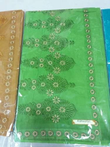 Printed Design Cotton Saree in  Bara Bazar