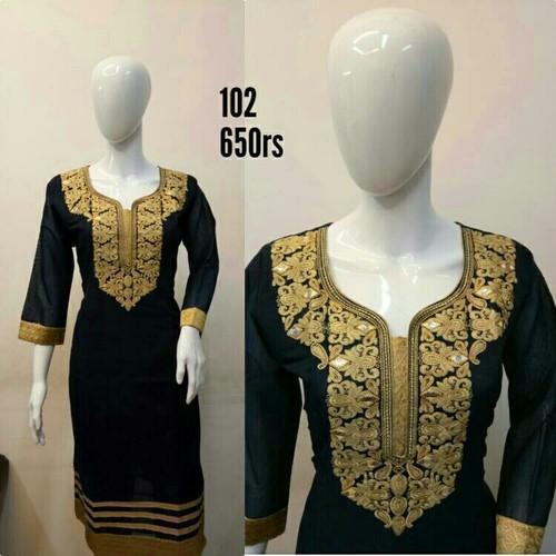 Ladies Designer Kora Silk Kurtis in  Astodiya