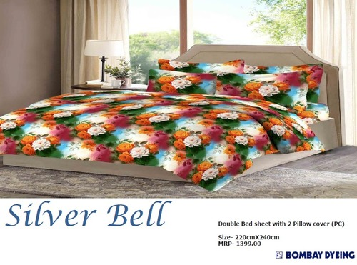 Bombay Dyeing Silver Bell Bed Sheets in  Ghitorni