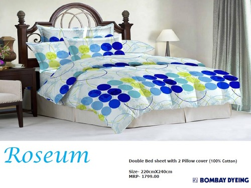 Roseum Double Bed Sheets in  Ghitorni