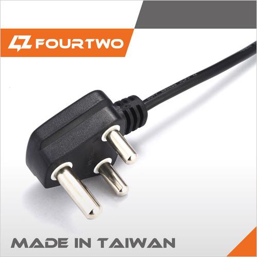 3 Pole AC Power Cord Plugs in   Taiwan 506