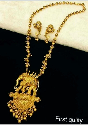 Bahubali Chain Pendant Set in  Sheikh Memon St.-Zaveri Bazar