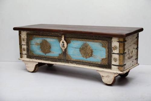 Brass Fitted Wooden Antique Boxes