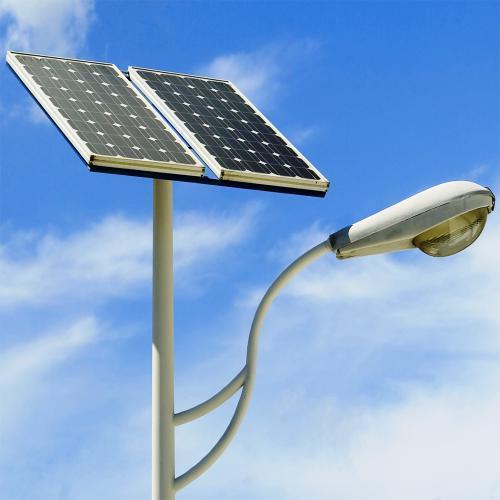 solar street light pole cfl street light