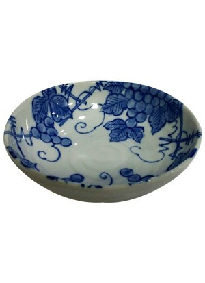 Japanese Ceramic Bowl (Grape Design)