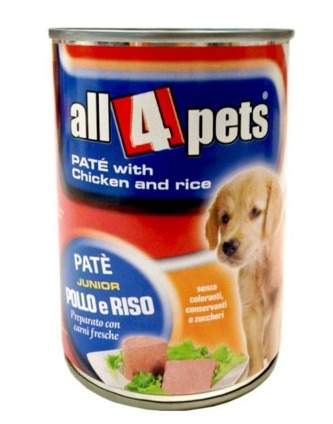 Dog Food Pate With Chicken And Rice