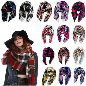 Women's Plaids Check Scarves
