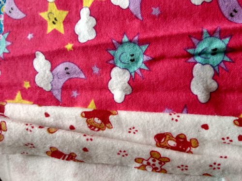 CVC Printed Double Sided Brushed Flannel Fabric 32Sx12S/40X45