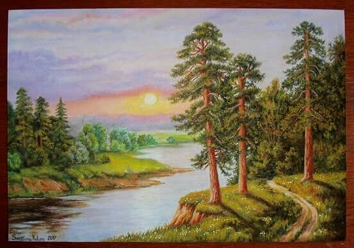 Vastu Specific Rising Sun Canvas Oil Paintings