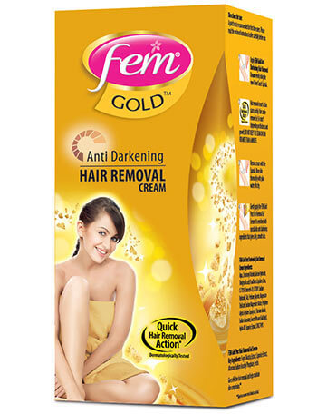 Fem Anti-Darkening Hair Removal Cream (Gold)