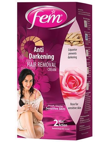 Fem Anti-Darkening Hair Removal Cream (Rose)
