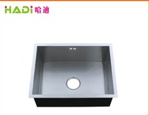 High End Kitchen Undermount Single Bowl Handmade Steel Sink HD6045H-V  in   Xinhui