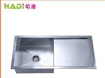 Modern Style Brushed Single Bowl With Drainboard Kitchen Sink HD9446H  in   Xinhui