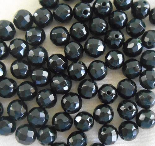 Black Loose Faceted Diamond Beads