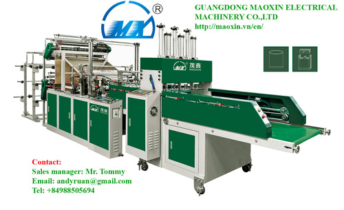 Automatic double channel double decker t shirt bag making for T shirt manufacturing machine in india