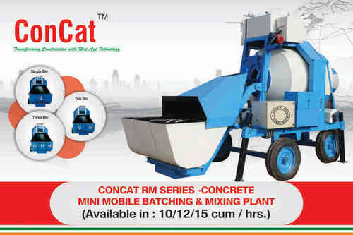 Concat RM Series Concrete Mini Mobile Batching And Mixing Plant in  Rajender Nagar