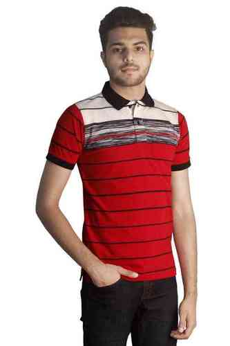 Tapasya Red Navy Polo T Shirt in  4-Sector