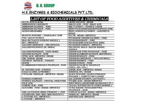 Sorbic Acid in  Malad (E)