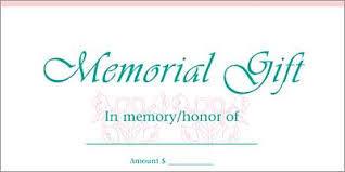 Memorial Gift in  New Area
