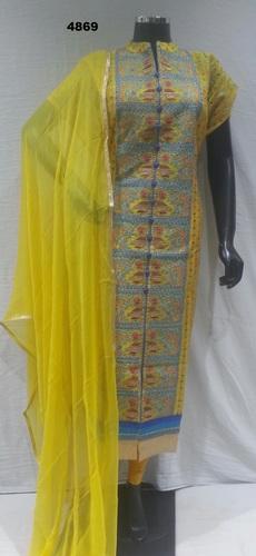 Chanderi Designer Suit in  Chandni Chowk