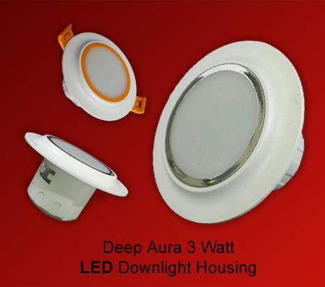Deep Aura 3 watt LED Down light Housing in  Jhilmil Indl. Area (Shahdara)