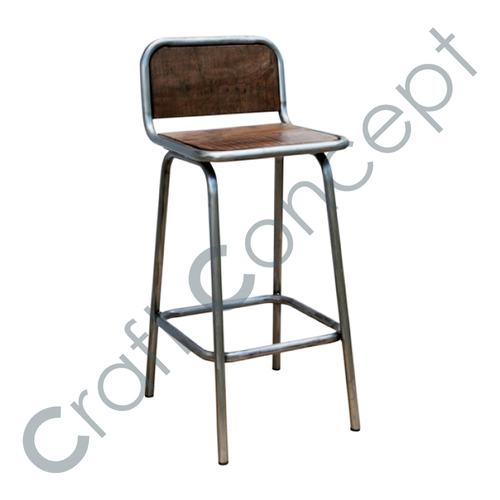 Bar Chair Wood Top  in  Sardarpura