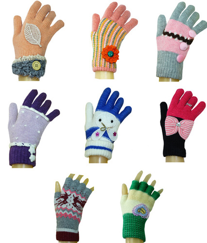 Girlish Ladies Fancy Winter Gloves in  Madhopuri