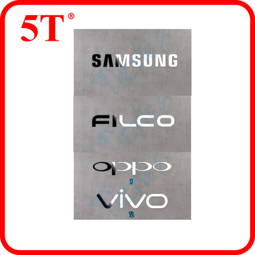 Die Cut Metal Stickers with Strong Pressure Sensitive Adhesive in   Liaobu Town