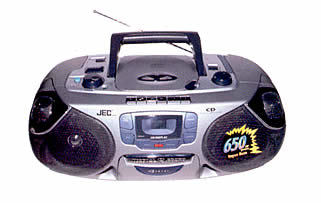 Rc-192 Cd Portable Radio Single Cassette Recorder With Top Loading Cd Player