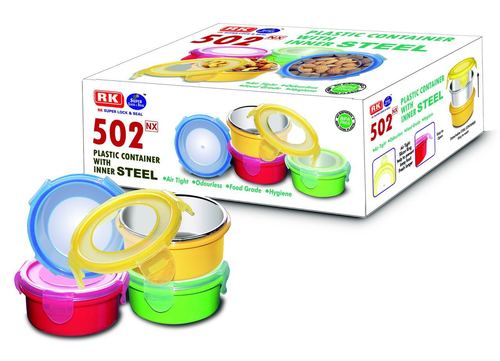 502NX Plastic Container With Inner Steel in  Bhiwandi