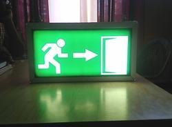 Emergency Exit Sign With Battery Back Up in  88-Sector