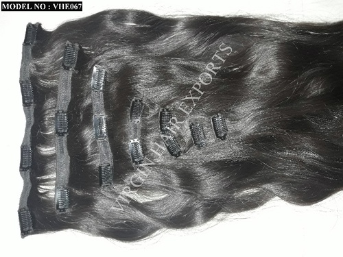 Clip On Indian Human Hair Extension in  Jamalpur