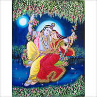 3d Radha Krishna Clay Painting in   Opp. Officers Colony