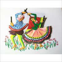 Dandiya Couple Dancing Oil Painting in   Opp. Officers Colony