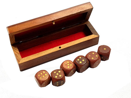 Wooden Games 6 Dice Set