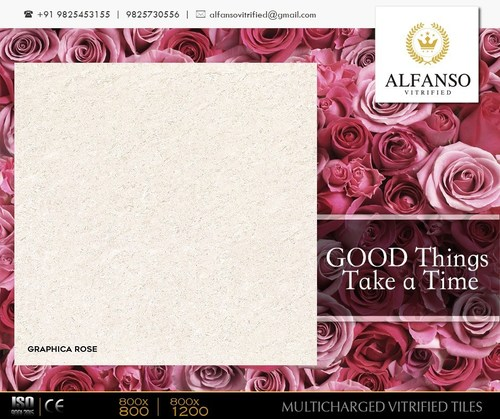 Graphica Rose Multi Charged Vitrified Tiles in   At Sapar Village
