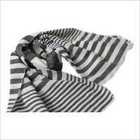 Black And White Horizontal Striped Scarves in  Barabanki