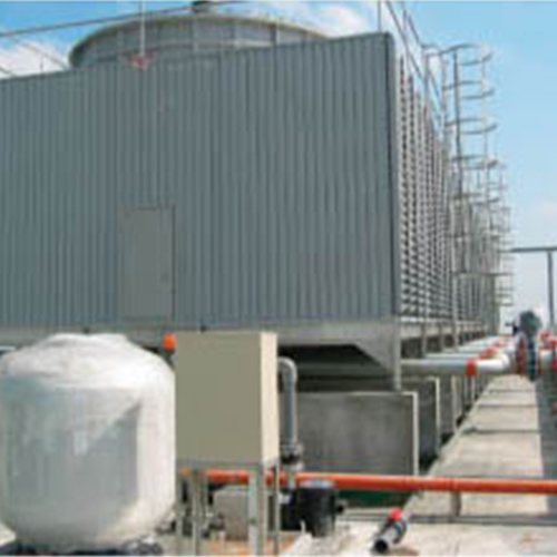 Draft Cooling Tower in  Industrial Area