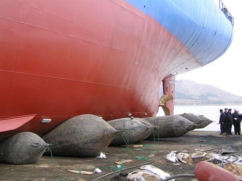 Marine Air Lift Bag For Large Oil Tanker